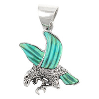 Sterling Silver Eagle Pendant Turquoise P3184-C55