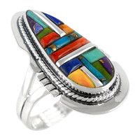 Multi Gemstone Ring Sterling Silver R2404-C51