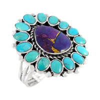 Sterling Silver Ring Multi Gemstone R2407-C96