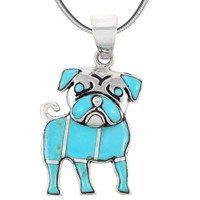 Sterling Silver Puppy Dog Pendant Turquoise P3245-C05