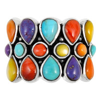 Sterling Silver Ring Multi Gemstone R2415-C71