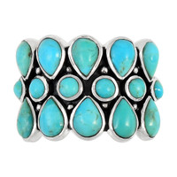 Sterling Silver Ring Turquoise R2415-C75
