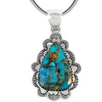 Sterling Silver Pendant Matrix Turquoise P3261-C84