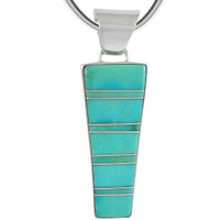 Sterling Silver Pendant Turquoise P3264-C05