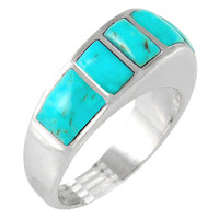 Sterling Silver Ring Turquoise R2001-C75