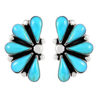 Sterling Silver Earrings Turquoise E1259-C75