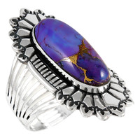 Sterling Silver Ring Purple Turquoise R2427-C77
