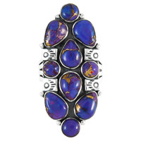 Sterling Silver Ring Purple Turquoise R2428-C77