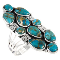 Sterling Silver Ring Matrix Turquoise R2428-C84