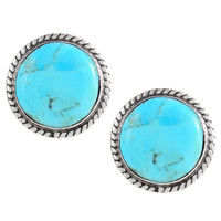 Sterling Silver Earrings Turquoise E1262-C75