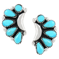Sterling Silver Earrings Turquoise E1264-C75