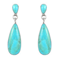 Sterling Silver Earrings Turquoise E1258-C75
