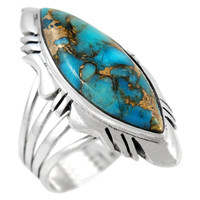 Sterling Silver Ring Matrix Turquoise R2023-C84