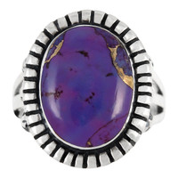 Sterling Silver Ring Purple Turquoise R2438-C77