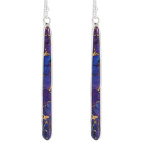 Sterling Silver Earrings Purple Turquoise E1250W-C77