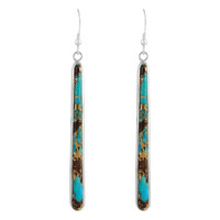 Sterling Silver Earrings Lava Rock Turquoise E1250W-C95