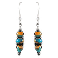 Sterling Silver Earrings Multi Gemstones E1278-C89