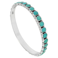 Sterling Silver Bangle Bracelet Turquoise B5551B-C75