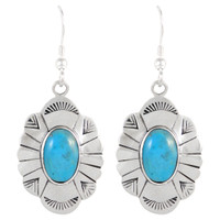 Sterling Silver Earrings Turquoise E1281-C75