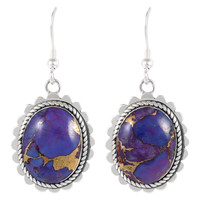 Sterling Silver Earrings Purple Turquoise E1282-C77