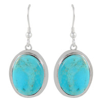 Sterling Silver Earrings Turquoise E1283-C75