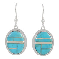 Sterling Silver Earrings Turquoise E1283-C05