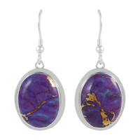 Sterling Silver Earrings Purple Turquoise E1283-C77