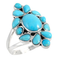 Sterling Silver Ring Turquoise R2445-C75