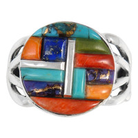 Sterling Silver Ring Multi Gemstone R2444-C51