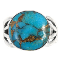 Sterling Silver Ring Matrix Turquoise R2444-C84