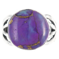 Sterling Silver Ring Purple Turquoise R2444-C77