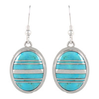 Sterling Silver Earrings Turquoise E1283-C05B