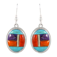 Sterling Silver Earrings Multi Gemstone E1283-C51