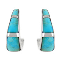 Sterling Silver Earrings Turquoise E1288-C05