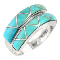 Sterling Silver Ring Turquoise R2446-C05