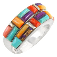 Sterling Silver Ring Multi Gemstone R2446-C51