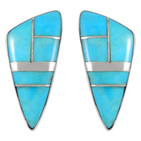 Sterling Silver Earrings Turquoise E1020-C05