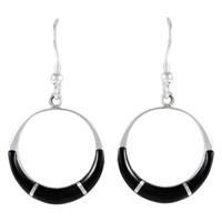 Sterling Silver Earrings Black E1287-C11