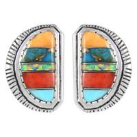 Sterling Silver Earrings Multi Gemstone E1293-C00