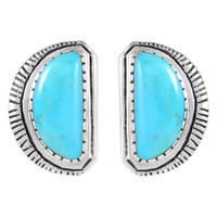 Sterling Silver Earrings Turquoise E1293-C75