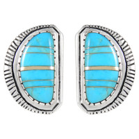 Sterling Silver Earrings Turquoise E1293-C05