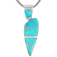 Sterling Silver Pendant Turquoise P3225-C05