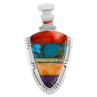 Sterling Silver Pendant Multi Gemstone P3272-C00