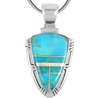 Sterling Silver Pendant Turquoise P3272-C05