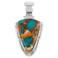 Sterling Silver Pendant Spiny Turquoise P3272-C89