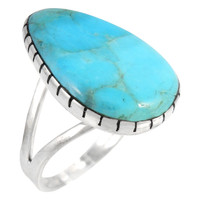Sterling Silver Ring Turquoise R2411-C75