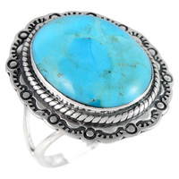 Sterling Silver Ring Turquoise R2447-C75