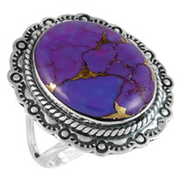 Purple Turquoise Ring Sterling Silver R2447-C77