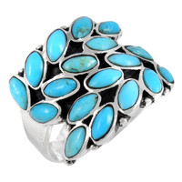 Turquoise Ring Sterling Silver R2448-C75