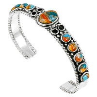 Sterling Silver Bracelet Spiny Turquoise B5173-C89